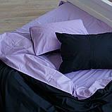 """Комплект полуторный постельного белья ТМ """"Ловец снов"""", Однотонный черный, фото 9"""
