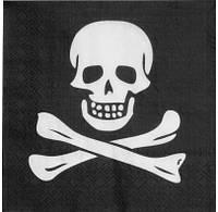 Салфетки Череп пирата 74169