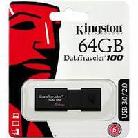 Флеш память USB 64GB Kingston DataTraveler 100 Generation 3 USB3.1 (DT100G3/64GB)