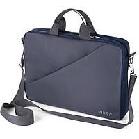 "Сумка для ноутбука 15.6"" Vinga NB180GR Gray-Blue"