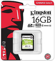 Флеш память SDHC 16Gb Kingston (Class 10) (SDS/16GB)