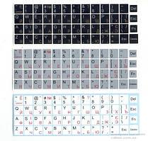 Наклейки на клавиатуру BRAIN (UA,RU), непрозора, black