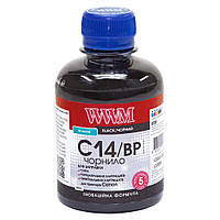 Чернило WWM Canon C14/BP Black Pigment 200ml