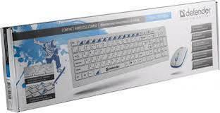 Клавиатура Defender Skyline 895 Nano, Wireless Keyb + Mouse, USB White (Art.45895)