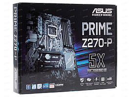 Материнская плата Asus Prime Z270-P, (s1151, Intel H270, PCI-Ex16)