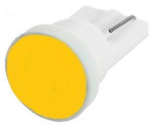 Лампа LED 12V T10 (W5W) COB 1W ЖЕЛТЫЙ