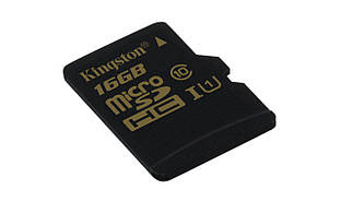 Флеш память MicroSD 16GB Kingston (Class 10) (SDCS/16GBSP)