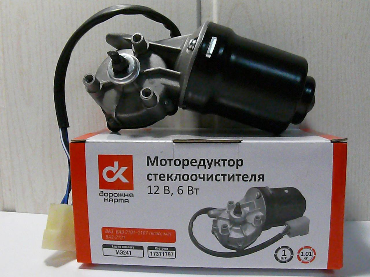 Моторедуктор стеклоочистителя ВАЗ 2101-07, 2121 12В 6Вт