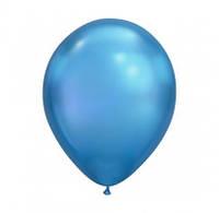"""Шарик синий 11""""(28см) хром 1шт 58272"""