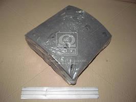 Накладка тормозная МАЗ 5440 задняя сверленная (180мм)