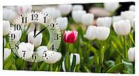 Настенные часы Декор Карпаты 24х44 Тюльпаны (24х44-c13)