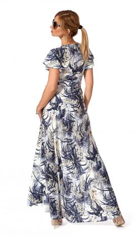 "Платье ""Эмма"" размеры 44,46 цвет серый с желтым, фото 2"
