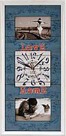 "Фоторамка коллаж с часами ""Love Home"" 26x53 см (CW2-204)"