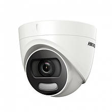 2МП купольная видеокамера Hikvision ColorVu DS-2CE72DFT-F (3.6 мм)