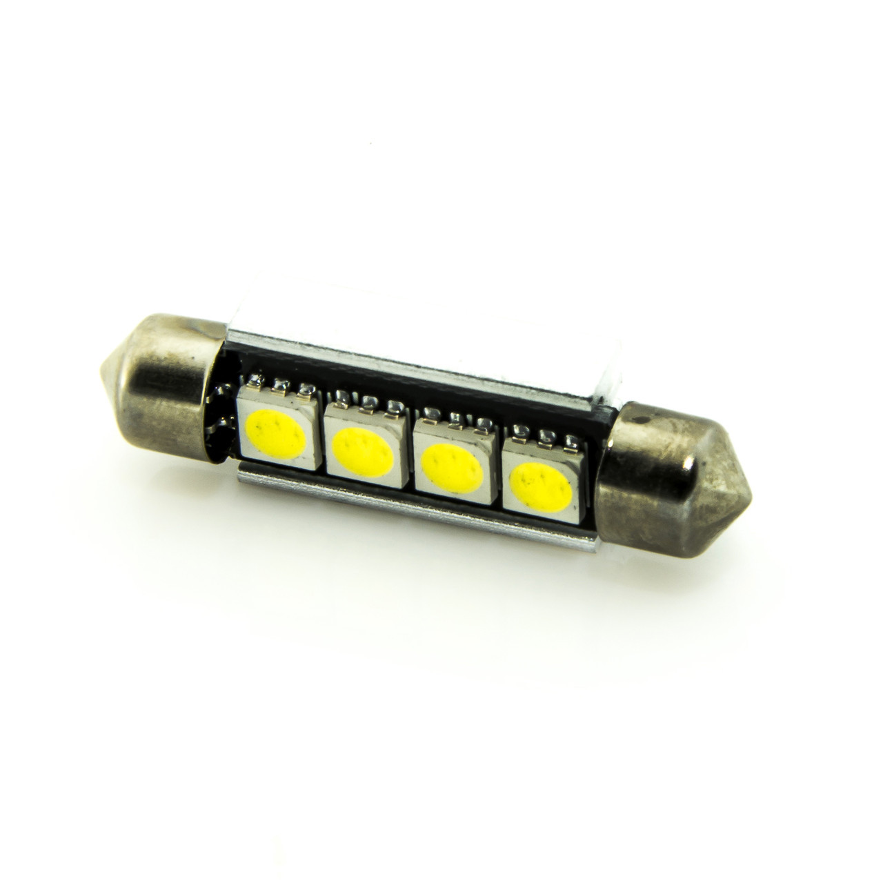 Лампа LED 12V AC (C5W) 4SMD 5050 42мм обманка 56Lm БЕЛЫЙ