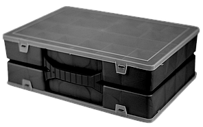 Органайзер подвійний 304х206х100 мм Чорний