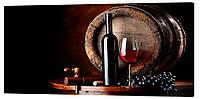 Картина на холсте Декор Карпаты Вино 50х100 см (O679)
