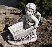 Садова скульптура Ангел 43x25x52 cm SS12097-58 колір бежевий., фото 1