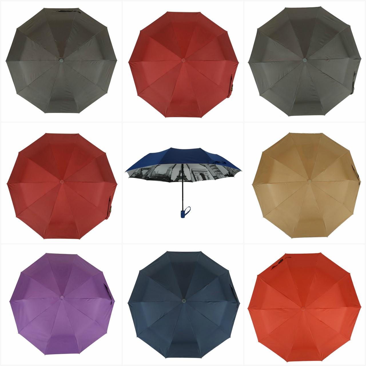 """Женский зонтик-полуавтомат с узором изнутри и тефлоновой пропиткой от """"Bellissimo"""""""