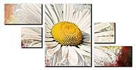Модульная картина Декор Карпаты 135х71 Ромашка (FL-006)