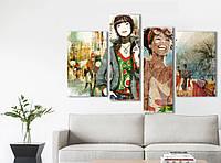 Модульная картина Декор Карпаты Vip Collection 120х80 см (VIP-M4-572)