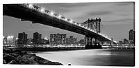 Картина на холсте Декор Карпаты Мост в городе 50х100 см (g1481)