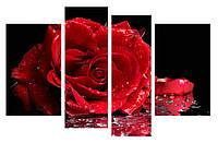 Модульная картина Декор Карпаты 110х70 см Красная Роза (M4-c174)