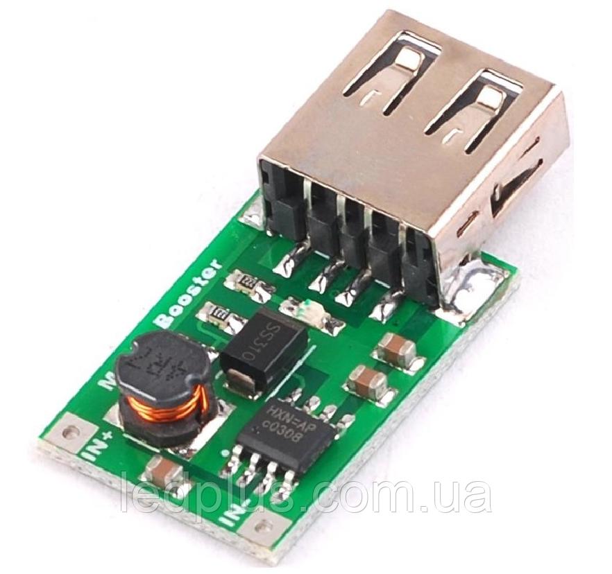 Повышающий стабилизатор напряжения  0,9V-5V 1200mA USB