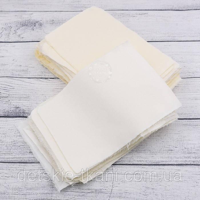 Набір для печворку з клаптів тканин ванільного кольору №137
