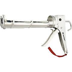 "Пистолет для герметика, 310 мл, ""полуоткрытый"", хромир., зубчатый шток 7 мм MATRIX 886409"