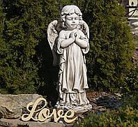 Садовая скульптура Ангел 35x25x72 cm SS12091-58 цвет бежевый., фото 1