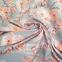 Ткань супер софт принт тюльпаны, фото 1