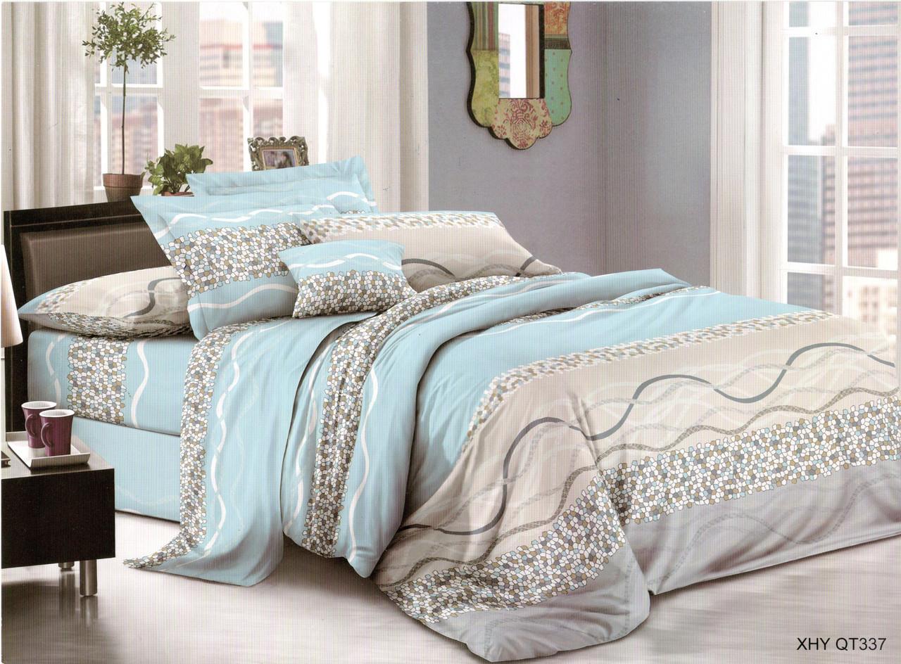 Полуторный комплект постельного белья «Небесная волна» 145х215 см из полиэстера