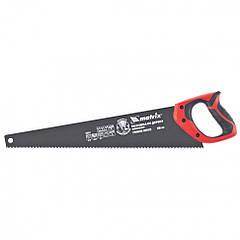 Ножовка по дереву, 500 мм, 7-8 TPI, зуб-3D, тефлоновое покрытие полотна, 2-х комп. рукоятка MATRIX 235519