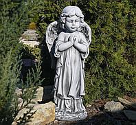 Садова скульптура Ангел 35x25x72 cm SS12091-16 колір сірий., фото 1