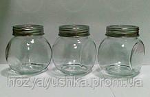 """Набір скляних банок 200мл (3шт.) для зберігання продуктів """"Неваляшка"""" Empire EM-1851"""