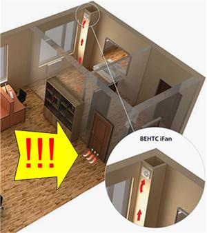Установка круглых вентиляционных решёток в двери ванной комнаты, санузла чтобы обеспечения приток воздуха для нормальной работы вытяжного суперэкономного вентилятора ВЕНТС iFan.