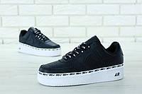 Мужские кроссовки Nike Air Force 1 '07 SE черный (реплика +ААА), фото 1