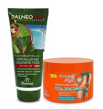 Набор№24 Водор.-иловый гель-эластик для подтягивания кожи 500 мл + гель для уменьшения обьемов тела 200 мл