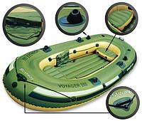 Трехместная надувная лодка BestWay 65001 Voyager 500 (348х141см), с веслами