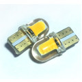 Лампа LED 12V T10 (W5W) COB силикон 115Lm ЖЕЛТЫЙ