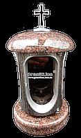 Лампадка (подсвечник) с гранитом для надгробного памятника Лампада, подсвечник, токовский, серебро