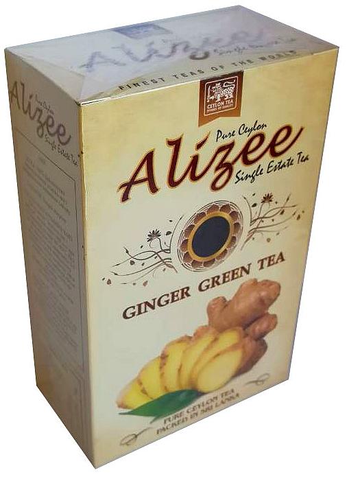 Чай зеленый листовой с имбирём Alizee Ginger Green Tea 100 г