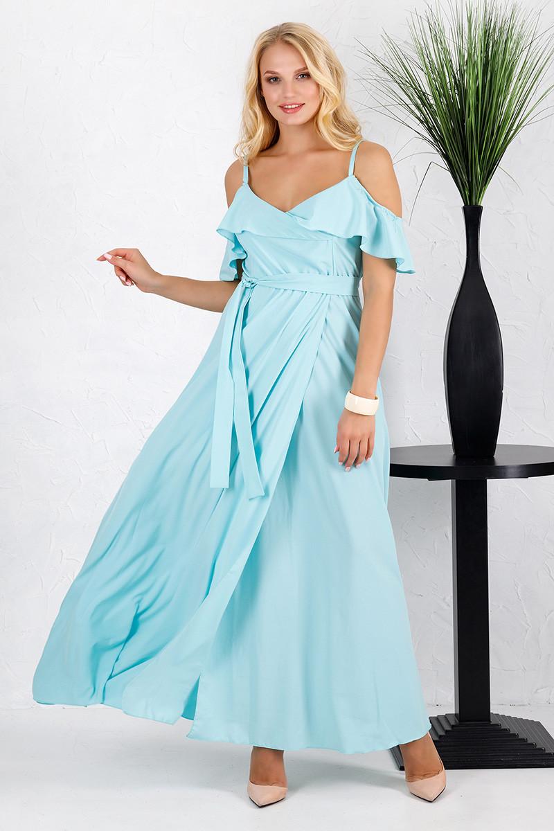 Платье в пол Милена однотон мятное