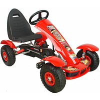 Детский педальный автомобиль.Детский спортивные педальный картинг с педалями и резиновыми колесами.