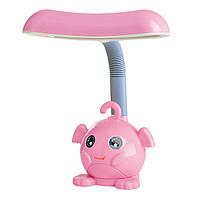 """Настольна стильна дитяча LED лампа 7W """"Лунтик"""" LU-700-0923 рожева (16шт/ящ) TM LUMANO 12м.гар."""