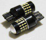 Лампа LED 12V 7443 54SMD 3014 белый линза 240/480Lm
