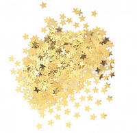 Конфетти звездочки золотые 14,1г 90350