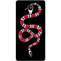 Чехол силиконовый бампер для Meizu M3s с рисунком Gucci змея