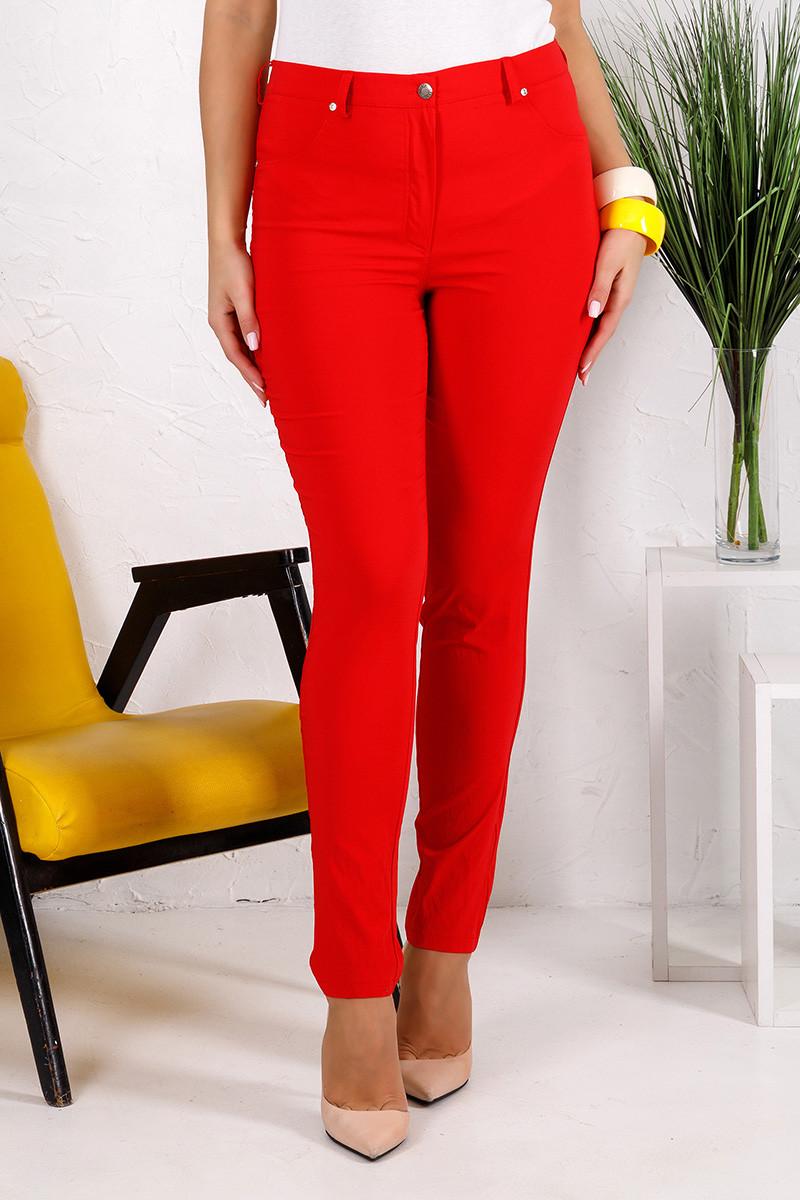 Женские брюки Алекса красные